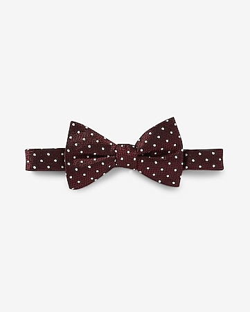 dotted silk bow tie