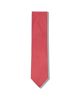 Express Mens Solid Standard Silk Tie Pink