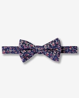 Express Mens Floral Micro Print Silk Bow Tie