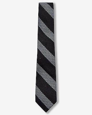 Express Mens Diagonal Stripe Narrow Wool Blend Tie