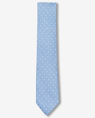 Express Mens Polka Dot Slim Silk Tie Blue
