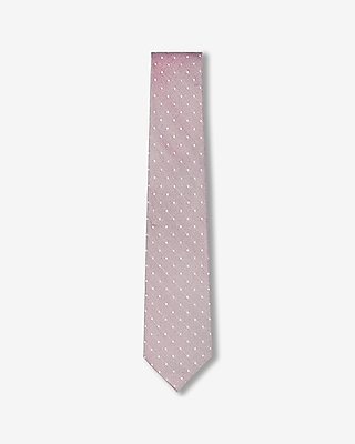 Express Mens Narrow Dot Silk Tie
