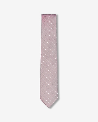 Express Mens Skinny Dot Silk Tie