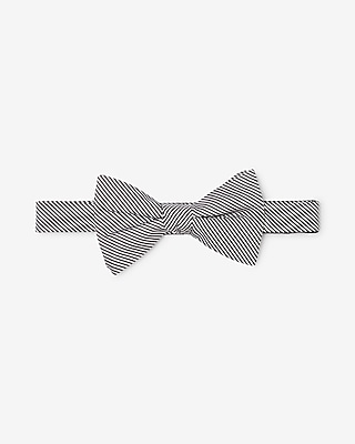 Express Mens Striped Silk Bow Tie