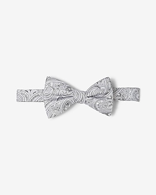 Express Mens Paisley Silk Bow Tie