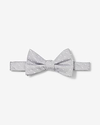 Express Mens Dot Print Silk Bow Tie