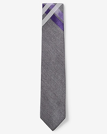 narrow silk plaid tie