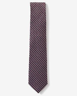Narrow Micro Print Silk Tie