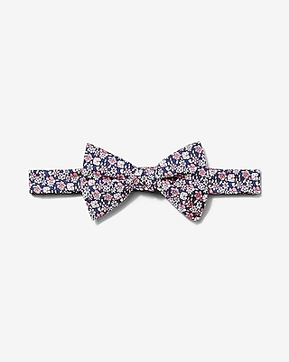 Express Mens Floral Print Silk Bow Tie