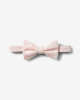 Express Mens Silk-Blend Floral Bow Tie