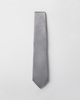 Express Mens Small Dot Narrow Silk Tie