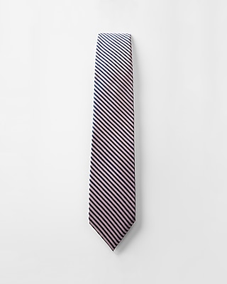 Express Mens Striped Narrow Silk Tie