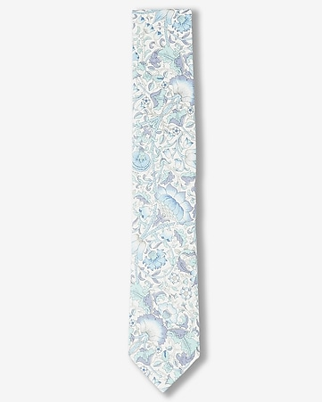 large floral print slim liberty fabric cotton tie