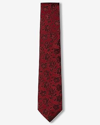 Narrow Floral Silk Tie