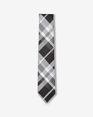 Express Mens Narrow Plaid Silk Tie