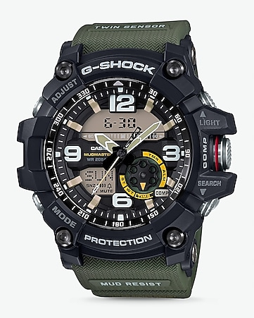 g-shock olive resin band oversized watch