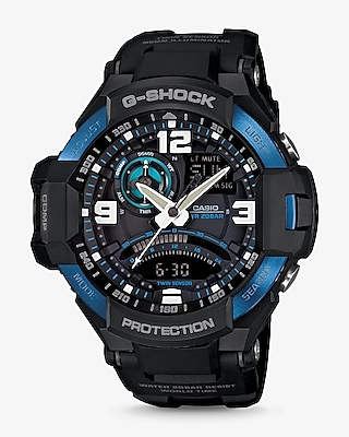 Express Mens G-Shock Black Aviation Watch