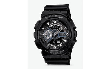 g-shock black and gray oversized watch