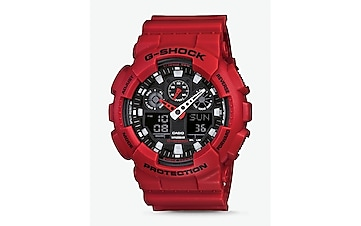g-shock extra large red watch