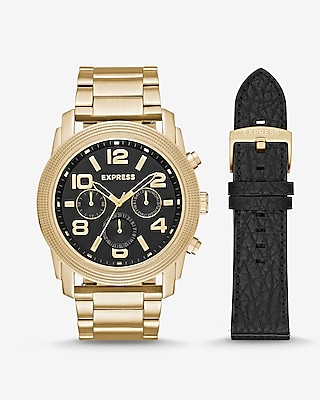 Express Mens Oversized Rivington Multi-Function Watch Gift Set