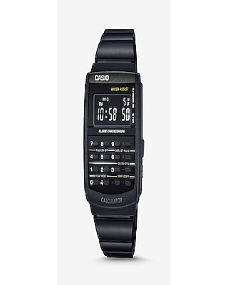 Express Mens Vintage Casio Black Calculator Watch