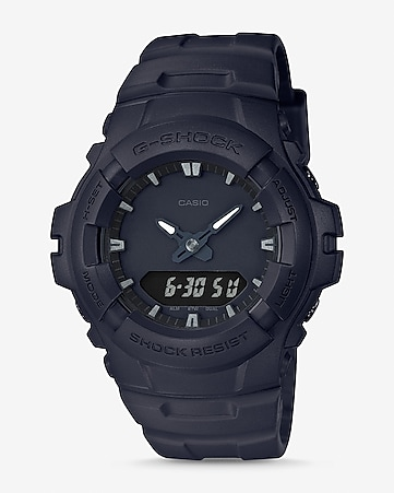 g-shock black round watch