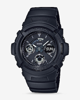 Express Mens G-Shock Black Out Detail Round Watch