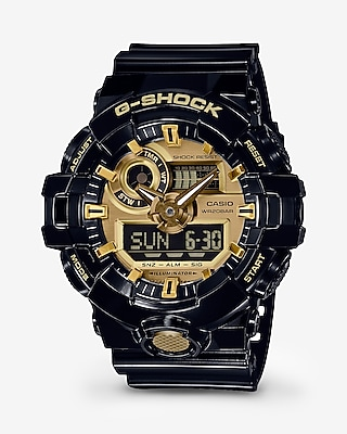 Express Mens G-Shock Black And Gold Watch