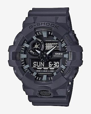 Express Mens G-Shock Gray Front Button Watch