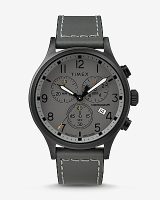 Express Mens Timex Gray Scout Chronograph Watch