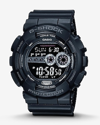 Express Mens G-Shock Black Analog & Digital Watch