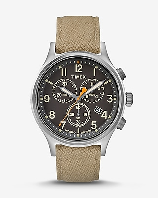Express Mens Timex Scout Chronograph Nylon Strap Watch