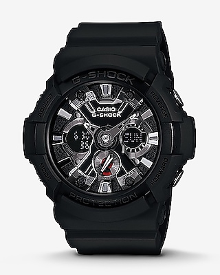Express Mens G-Shock Black And Silver Analog & Digital Watch