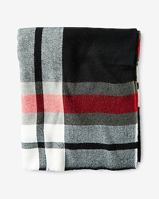 Express Mens Plaid Scarf