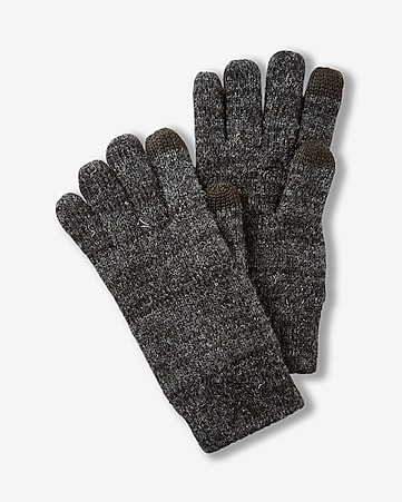 plaited wool-blend touchscreen compatible gloves