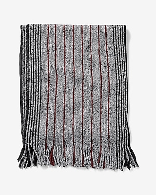 Express Mens Stripe Merino Wool Scarf