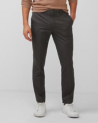 Express Mens Extra Slim Gray Non-Iron Dress Pants