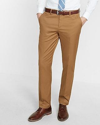 Express Mens Slim Fit Camel Stretch Cotton Photographer Dress Pant
