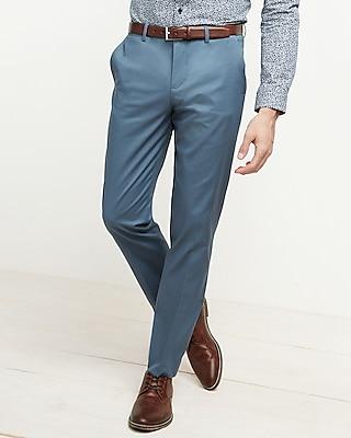 Express Mens Slim Blue Ridge Stretch Cotton Dress Pant