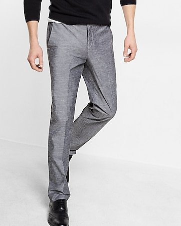 slim photographer gray dress pant