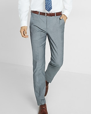 Express Mens Slim Photographer Diamond Weave Dress Pant