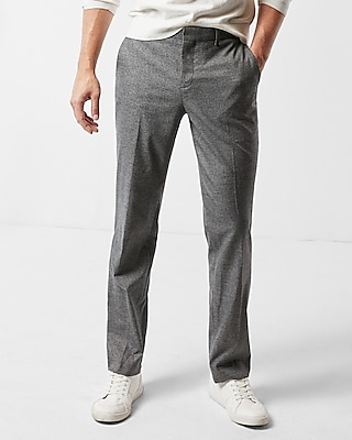 Express Mens Slim Gray Microweave Dress Pant