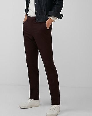 Express Mens Slim Burgundy Dress Pant