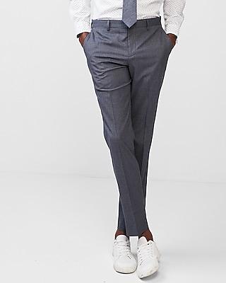 Express Mens Slim Striped Stretch Dress Pants