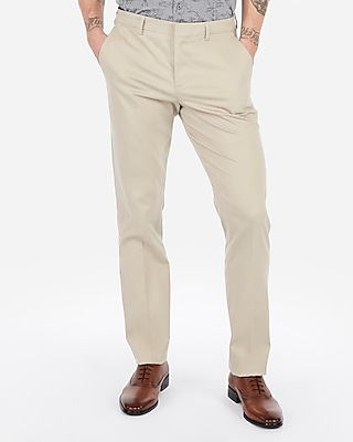 Express Slim Performance Stretch Easy Care Cotton Dress Pants