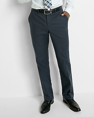 Express Mens Relaxed Stretch Cotton Oxford Dress Pant