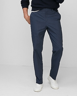 Express Mens Relaxed Stretch Cotton Blend Heathered Dress Pant