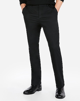 Express Mens Relaxed Solid Performance Stretch Dress Pant