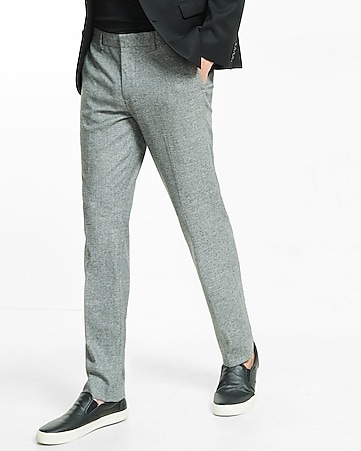 skinny innovator marled dress pant