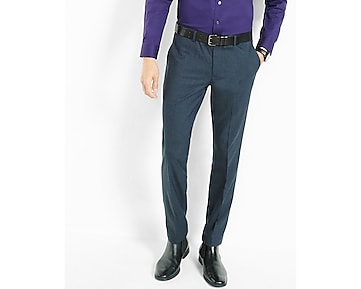 skinny innovator navy sharkskin dress pant